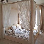 Для дома и интерьера handmade. Livemaster - original item The four poster wooden bed. Handmade.