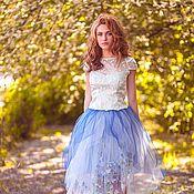 Одежда handmade. Livemaster - original item Blue skirt. Handmade.