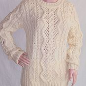 Одежда handmade. Livemaster - original item Cardigan with openwork diamonds cream. Handmade.