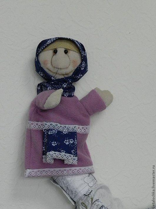 Кукольный театр ручной работы. Ярмарка Мастеров - ручная работа. Купить Бабушка (кукла-перчатка). Handmade. Кукла-перчатка