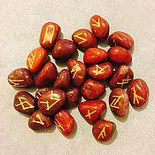 Ритуальная атрибутика ручной работы. Ярмарка Мастеров - ручная работа Руны из красной яшмы. Handmade.