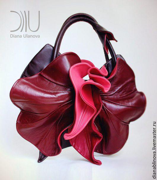 Женские сумки ручной работы. Ярмарка Мастеров - ручная работа. Купить Орхидея NEW разные. Handmade. Ярко-красный
