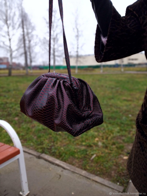 Кожаный клатч, сумка,  pouch, в стиле Bottega Veneta, Клатчи, Великий Новгород,  Фото №1