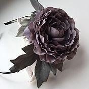 Украшения ручной работы. Ярмарка Мастеров - ручная работа Ободок с серым цветком. Handmade.