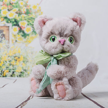 Куклы и игрушки ручной работы. Ярмарка Мастеров - ручная работа Тедди котик Тишка. Handmade.