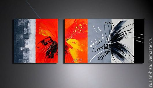 Абстракция ручной работы. Ярмарка Мастеров - ручная работа. Купить абстракция. Handmade. Черный, абстракция, продам, Декор, холст масло