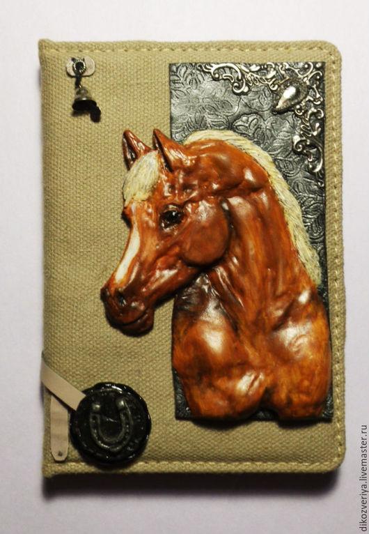 """Блокноты ручной работы. Ярмарка Мастеров - ручная работа. Купить Блокнот """"Арабская лошадь"""". Handmade. Рыжий, обложка из пластики, магнит"""