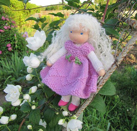 Вальдорфская игрушка ручной работы. Ярмарка Мастеров - ручная работа. Купить Милашка. Handmade. Бледно-розовый, каркасная кукла