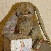 """Куклы и игрушки ручной работы. Ярмарка Мастеров - ручная работа """"Зайку бросила хозяйка..."""" ТАСЯ-заинька тедди. Handmade."""