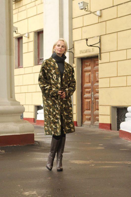 Верхняя одежда ручной работы. Ярмарка Мастеров - ручная работа. Купить Пальто EGGDRESS MILITARY. Handmade. Пальто женское, для беременных