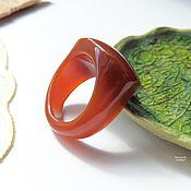Украшения ручной работы. Ярмарка Мастеров - ручная работа Перстень из сердолика Карминовый принц 19.75 р-р. Handmade.