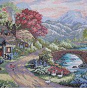 Картины и панно ручной работы. Ярмарка Мастеров - ручная работа домик в горах. Handmade.