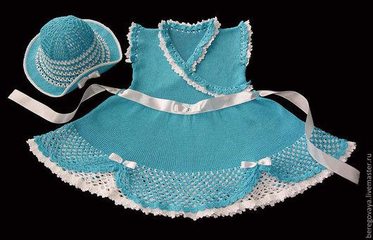 Одежда для девочек, ручной работы. Ярмарка Мастеров - ручная работа. Купить Платье для девочки Олеся. Handmade. Нарядное, вязаное платье
