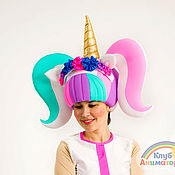 Аксессуары handmade. Livemaster - original item Head cap Unicorns Animation Club. Handmade.