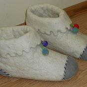 Обувь ручной работы. Ярмарка Мастеров - ручная работа тапочки домашние -полусапожки. Handmade.