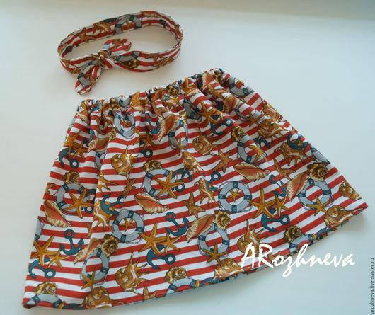 Одежда для девочек, ручной работы. Ярмарка Мастеров - ручная работа. Купить Комплект юбочка + повязка. Handmade. Комбинированный