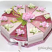 """Торт с пожеланиями """"Розовый"""""""