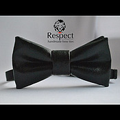 Аксессуары handmade. Livemaster - original item Tie Rammestein / leather black butterfly bow tie, leatherette. Handmade.