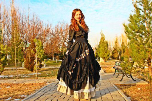 """Юбки ручной работы. Ярмарка Мастеров - ручная работа. Купить """"Ангел в черном"""" Бохо юбочка. Handmade. Черный, бохо костюм"""