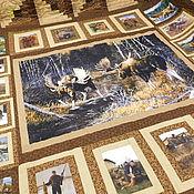 Покрывала ручной работы. Ярмарка Мастеров - ручная работа Подарок охотнику НА РЕВУ лоскутное покрывало с фотографией на ткани. Handmade.