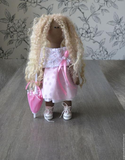 Человечки ручной работы. Ярмарка Мастеров - ручная работа. Купить Кукла Жасмин. Handmade. Розовый, кукла ручной работы, кукла