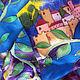 """Шарфы и шарфики ручной работы. Заказать Батик шарф """"Гранаты"""". Uzdenikova Elena 'Road of silk'. Ярмарка Мастеров. шелк"""