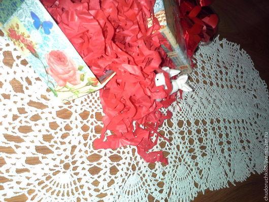 """Текстиль, ковры ручной работы. Ярмарка Мастеров - ручная работа. Купить салфетка """"Ажур"""". Handmade. Белый, Салфетка вязаная, для дома"""