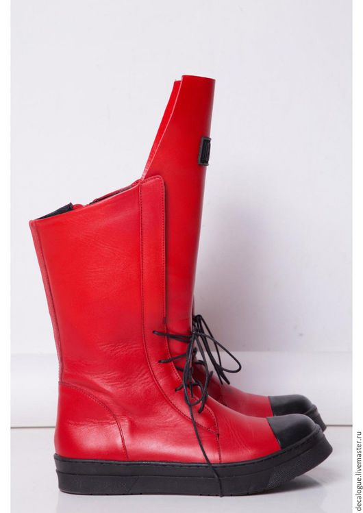 """Обувь ручной работы. Ярмарка Мастеров - ручная работа. Купить Сникерсы """"MEMENTO MORI"""" - RED. Handmade. Ярко-красный, обувь"""