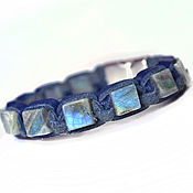 Украшения handmade. Livemaster - original item Shamballa Bracelet. Leather bracelet. Labradorite. Labrador stone. Handmade.