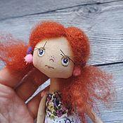 Куклы и игрушки ручной работы. Ярмарка Мастеров - ручная работа Кукла текстильная. Подружка в кармашек). Handmade.