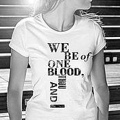 Одежда handmade. Livemaster - original item T shirt We are of the same blood. Handmade.