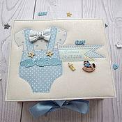 """Подарки к праздникам ручной работы. Ярмарка Мастеров - ручная работа коробочка-шкатулка """"Мамины сокровища"""" для мальчика. Handmade."""