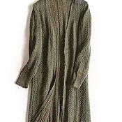 """Одежда ручной работы. Ярмарка Мастеров - ручная работа Кардиган """"Хаки"""" мохеровый. Handmade."""