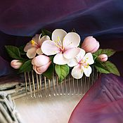 """Украшения ручной работы. Ярмарка Мастеров - ручная работа Гребень """"Запах весны"""". Handmade."""