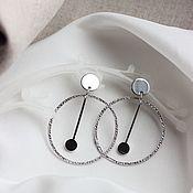 Украшения handmade. Livemaster - original item earrings Pendulum. Earrings Rings. Earrings geometry.. Handmade.