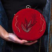 Сумки и аксессуары handmade. Livemaster - original item Red bag with embroidery