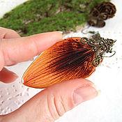 Украшения handmade. Livemaster - original item Earrings with Real Orange Lily Petals Vintage Eco Jewelry. Handmade.