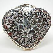 Браслет из бусин ручной работы. Ярмарка Мастеров - ручная работа Браслет с фордитом Сердце. Handmade.