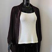 Одежда handmade. Livemaster - original item Cape-Bolero jacket from kid-mohair (dark wine). Handmade.