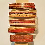 Украшения handmade. Livemaster - original item Wooden Hair-clips, Hairpin from wood, Hair barrettes Hairpin-automaict. Handmade.