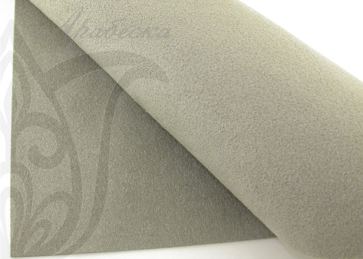 Мягкая ультразамша Ultrasuede для вышивки серебристого цвета BEADSMITH (Япония)