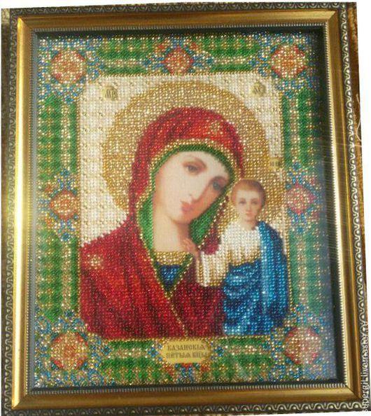 Казанская богоматерь, икона с багетом, готовая работа, сделаю на заказ