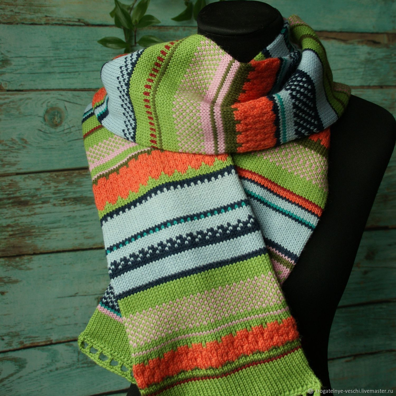 Spring multi-colored scarf For happiness, Scarves, Smolensk,  Фото №1