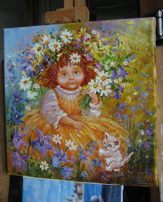 Люди, ручной работы. Ярмарка Мастеров - ручная работа. Купить Ангел Нежность. Handmade. Оранжевый, Дети-цветы жизни, ангелочек