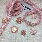 Заготовки для кукол и игрушек ручной работы. Ярмарка Мастеров - ручная работа Тесьма в стиле Chanel нежно-розовая. Handmade.