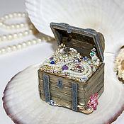 "Для дома и интерьера handmade. Livemaster - original item The box with a secret ""treasures of the seven seas"". Handmade."