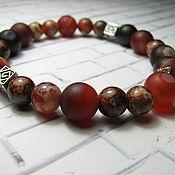 Украшения handmade. Livemaster - original item Bracelet with agate and sardonyx