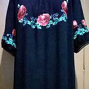 Одежда handmade. Livemaster - original item Embroidered dress ZhP3-037. Handmade.