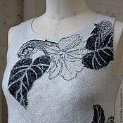 Одежда ручной работы. Ярмарка Мастеров - ручная работа Валяное платье Монохром. Handmade.