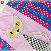 Для дома и интерьера ручной работы. Ярмарка Мастеров - ручная работа Лоскутное одеяло с котиком. Handmade.